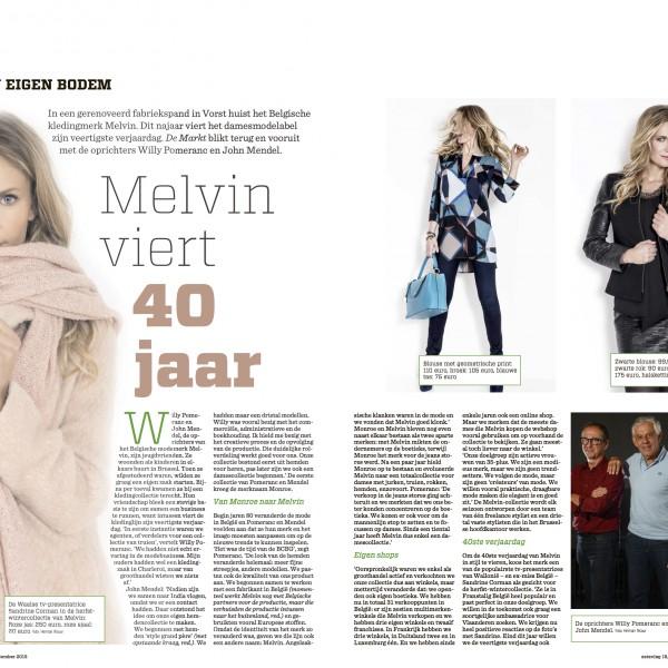 Gazet van Antwerpen - Melvin viert 40 jaar